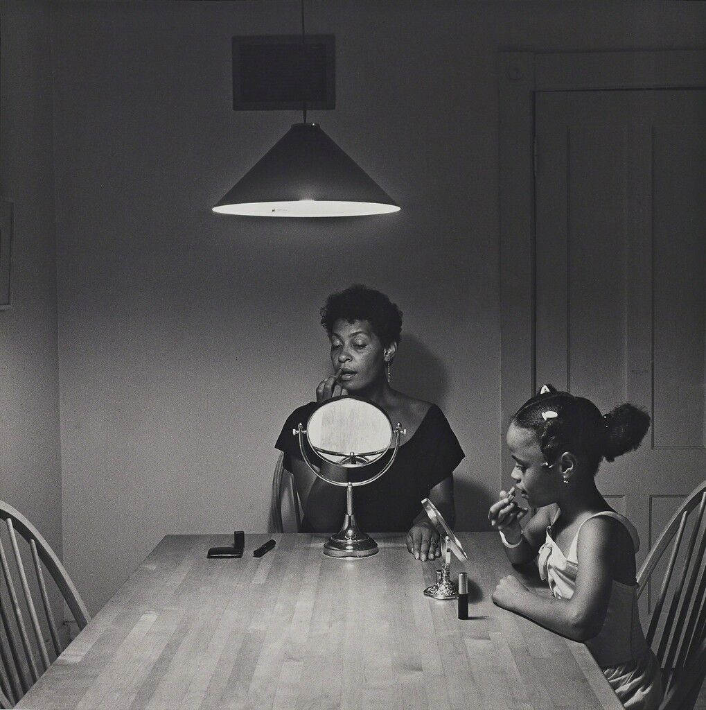 Untitled (Woman and daughter with makeup) from Kitchen Table Series