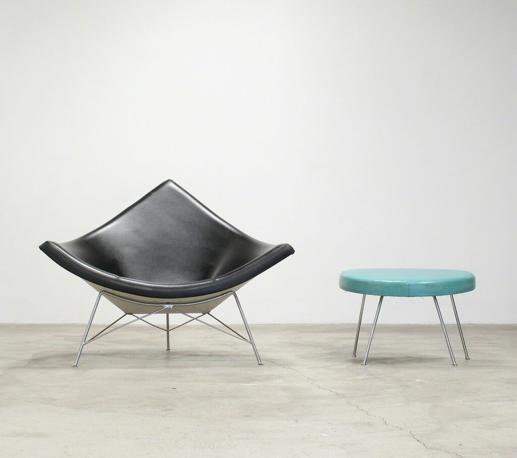 Coconut lounge chair and ottoman george nelson