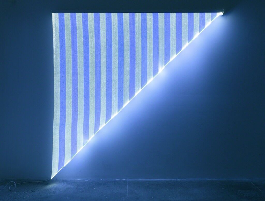 Optical Fiber, White and Blue Triangle, Situated Work