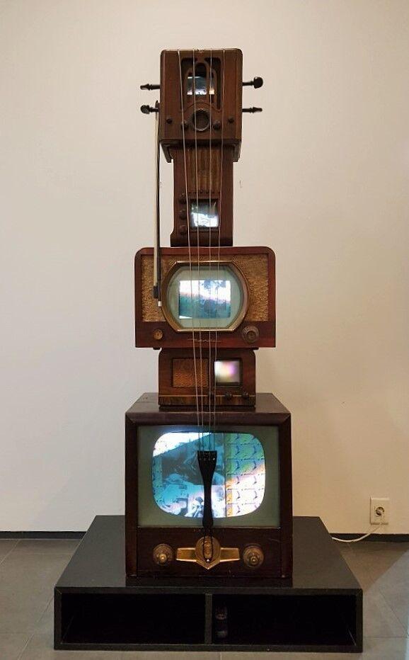 Antique TV Cello