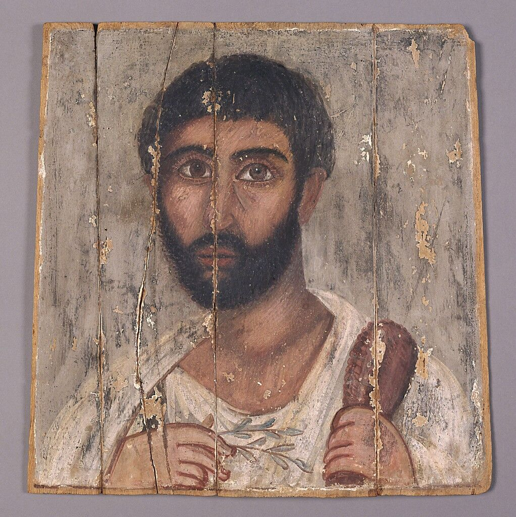 Portrait of a Bearded Man from a Shrine