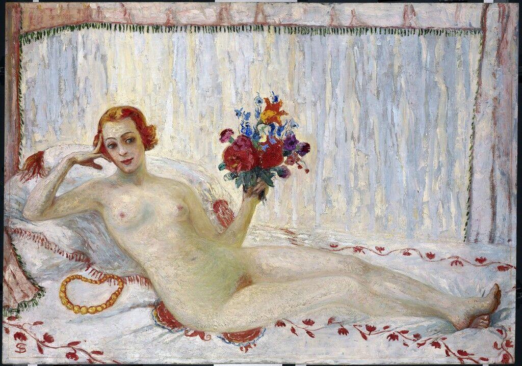 A Model (Nude Self-Portrait)