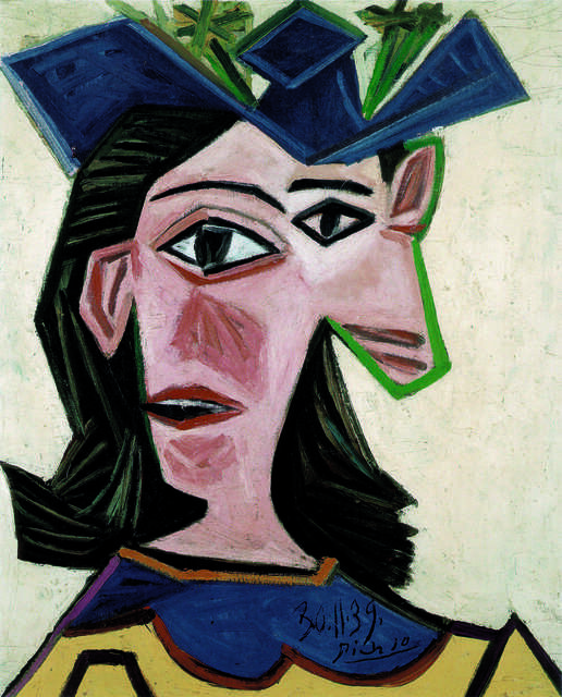 Buste de femme au chapeau (Dora) (Bust of Woman with Hat, Dora)