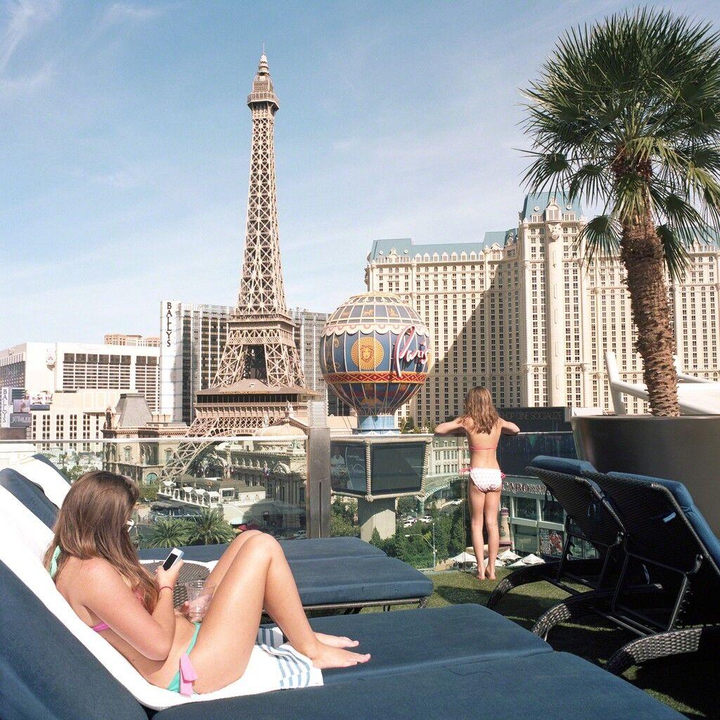 French Girls with Eiffel Tower, Las Vegas, Nevada