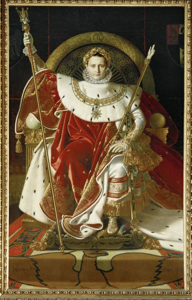Napoleon on his imperial throne