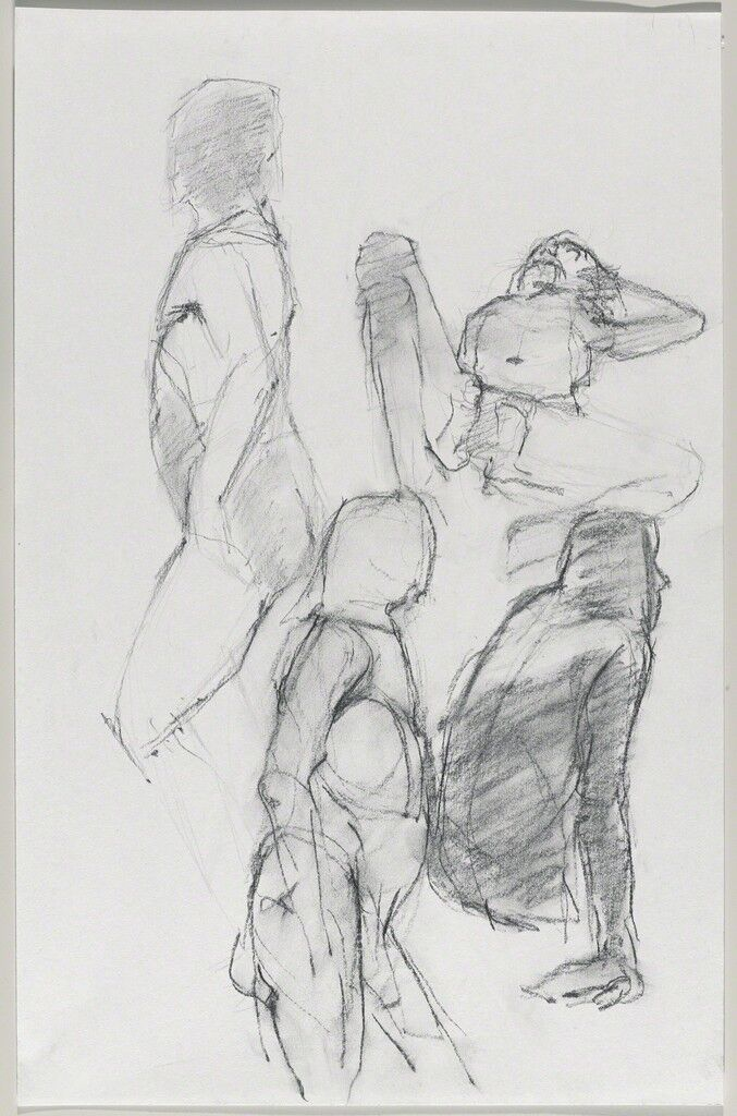 Untitled (Four poses: Standing, view from left; lying; standing, view from right; and sitting)