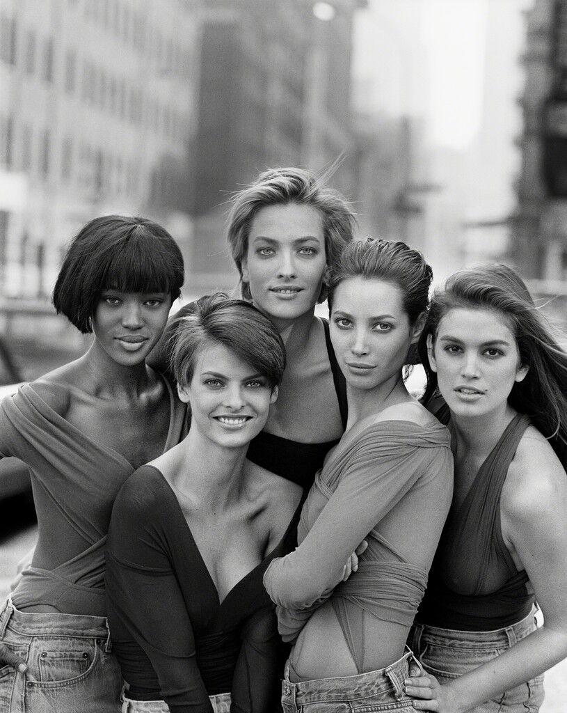 Naomi Campbell, Linda Evangelista, Tatiana Patitz, Christy Turlington, Cindy Crawford, New York