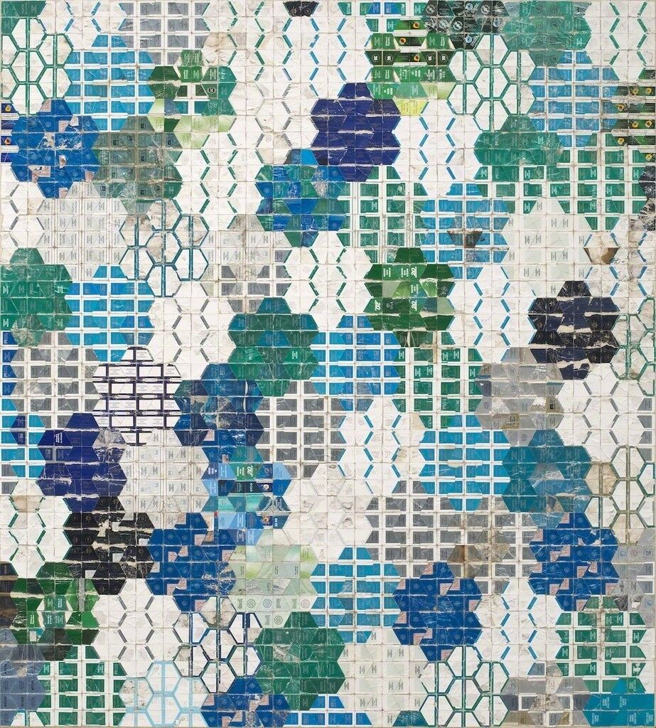 Blue Green Honeycomb