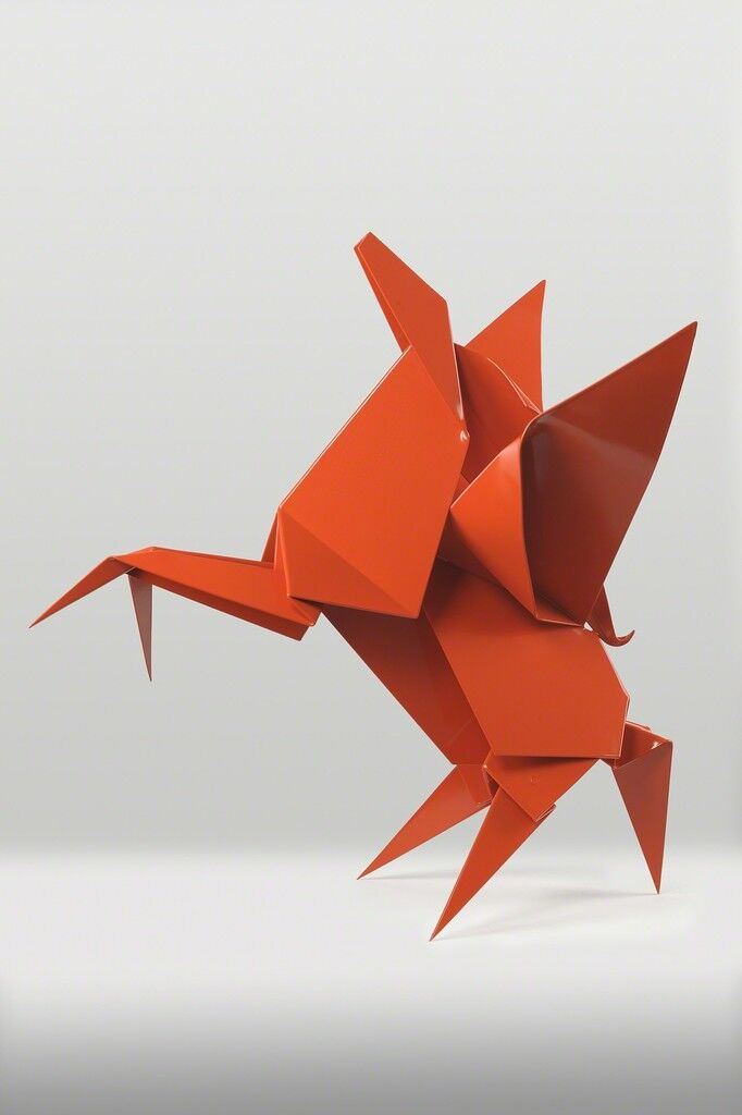 In Giant Origami Sculptures, Artist Hacer Folds Steel Like