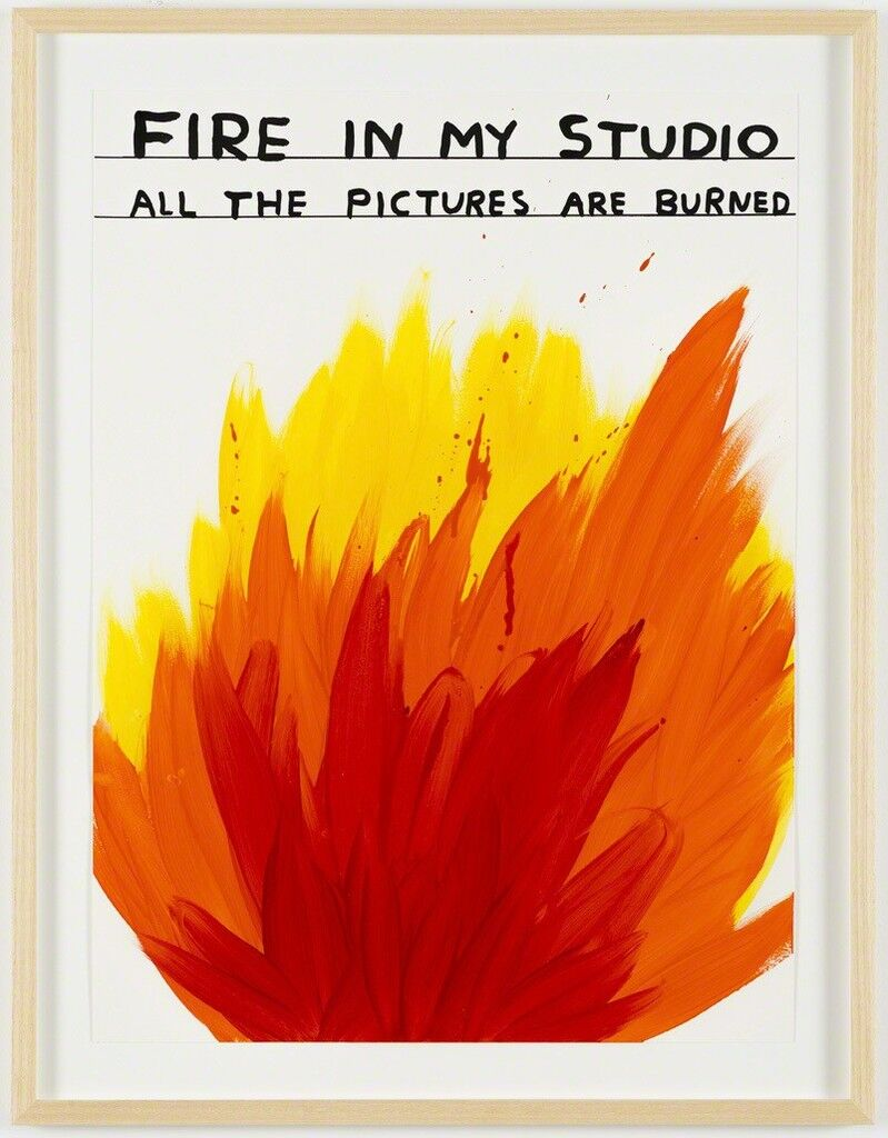 Untitled (Fire in my studio)