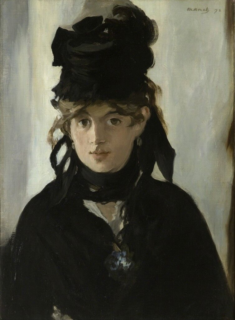 Berthe Morisot with bouquet of violets