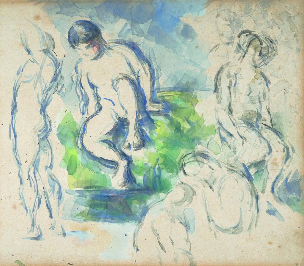 Paul Cézanne Badende (Detail)