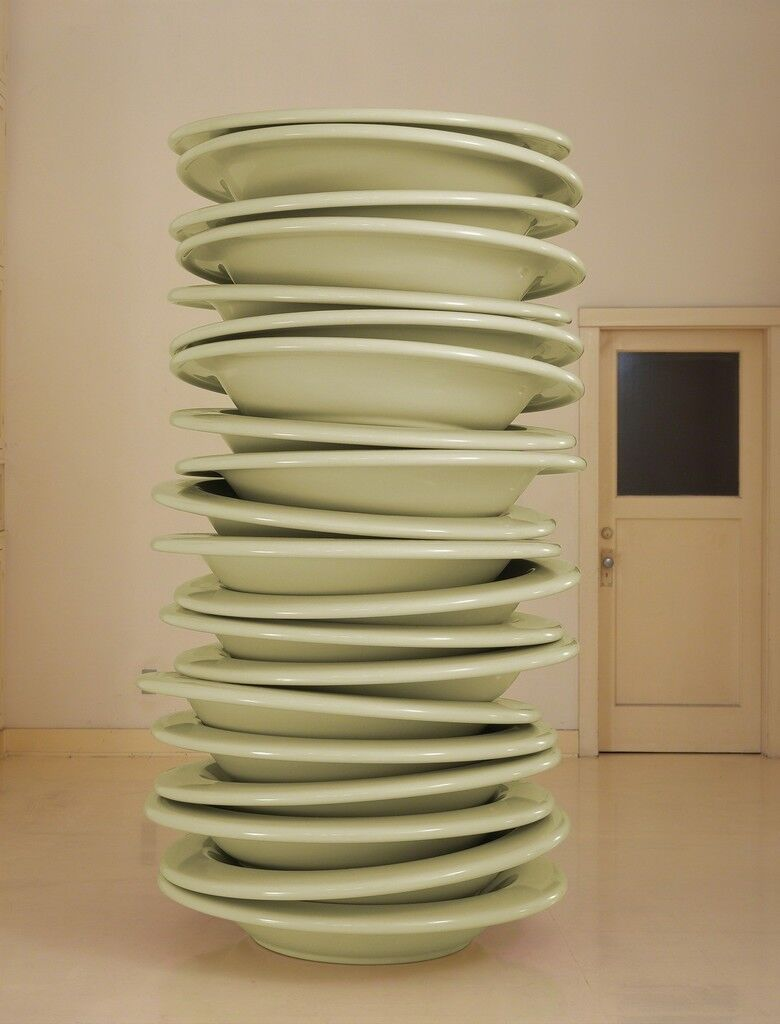 No Title (stacked plates, mint)