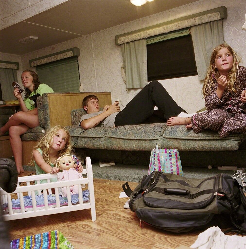 Candi and Eric's Kids in the Camper