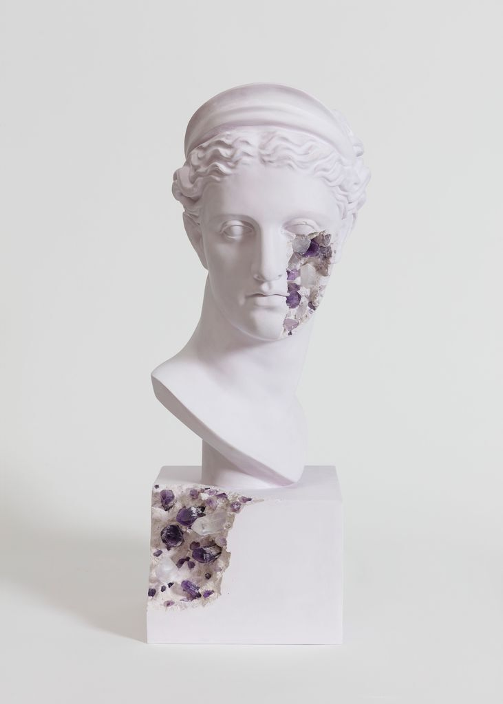 Amethyst Eroded Bust of Diane the Hunter (Named Diane of Versailles)