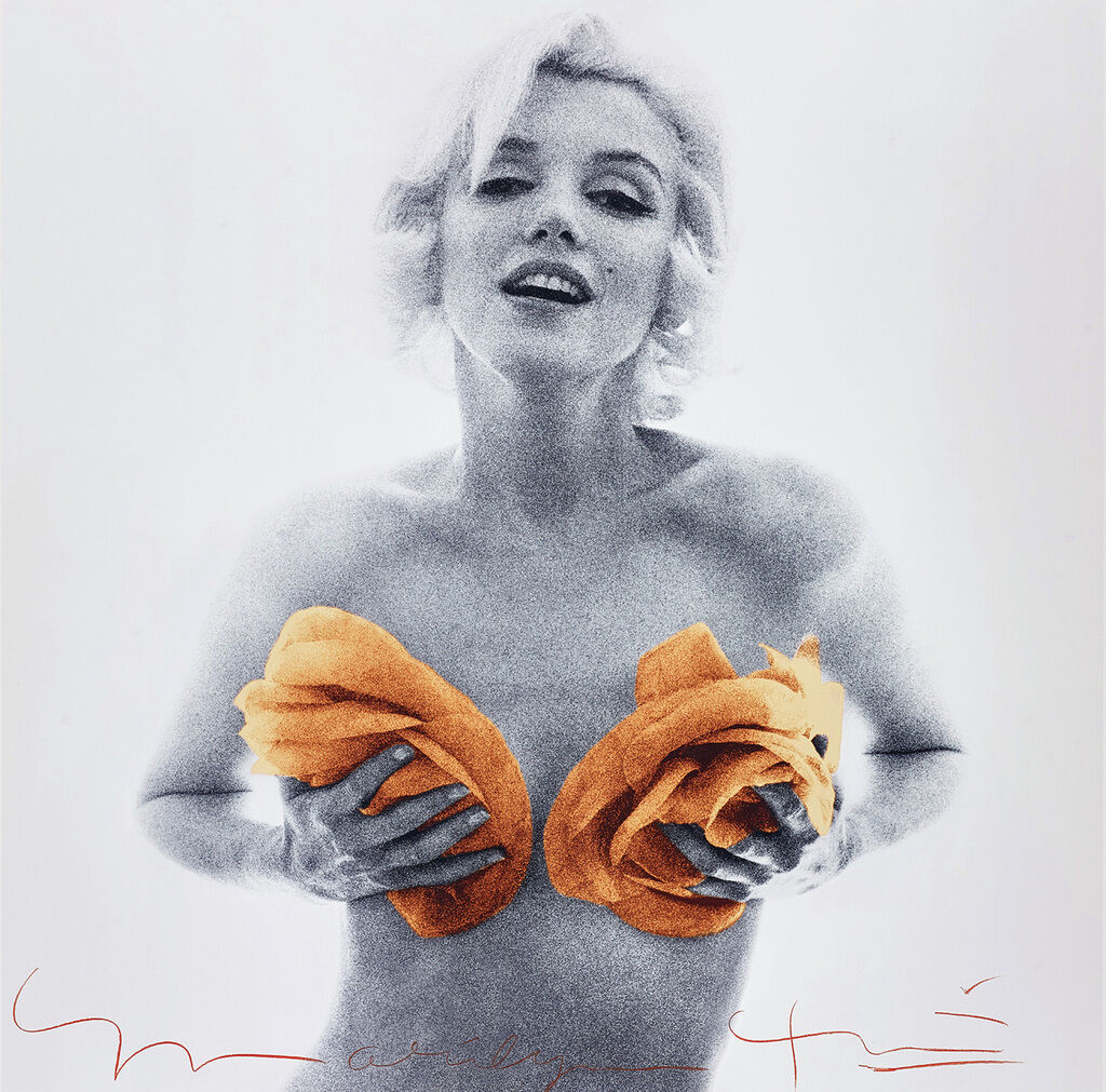 Marilyn with Apricot Roses from The Last Sitting