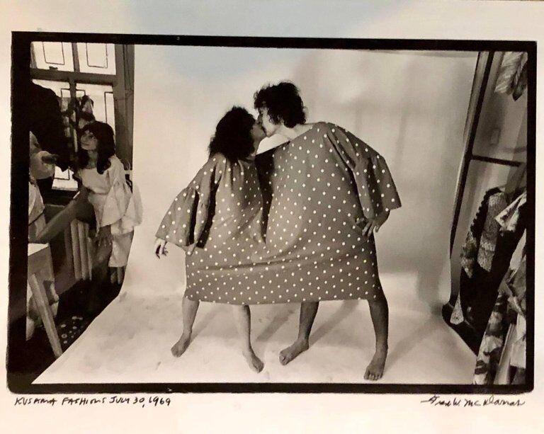 Rare Vintage Silver Gelatin Photograph Yayoi Kusama Dress John Lennon Yoko Ono