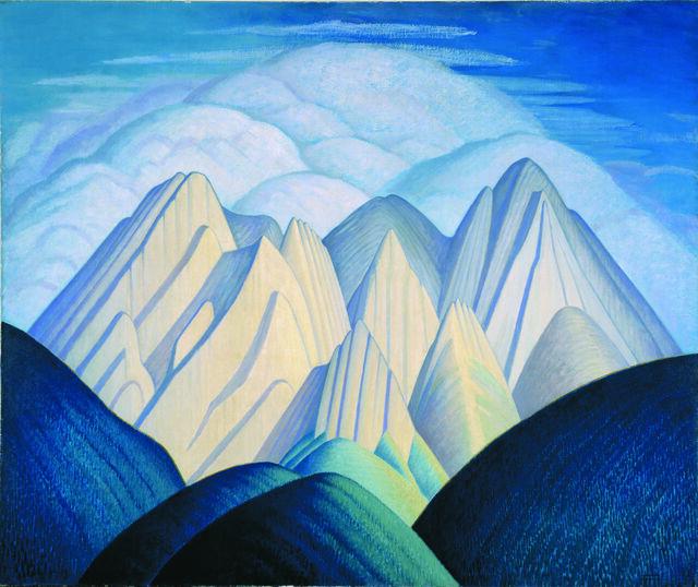 Untitled (Mountains Near Jasper)