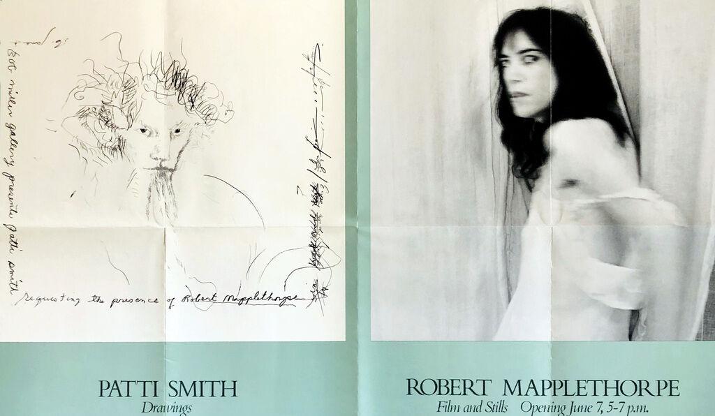 Robert Mapplethorpe Patti Smith 1978 exhibition poster