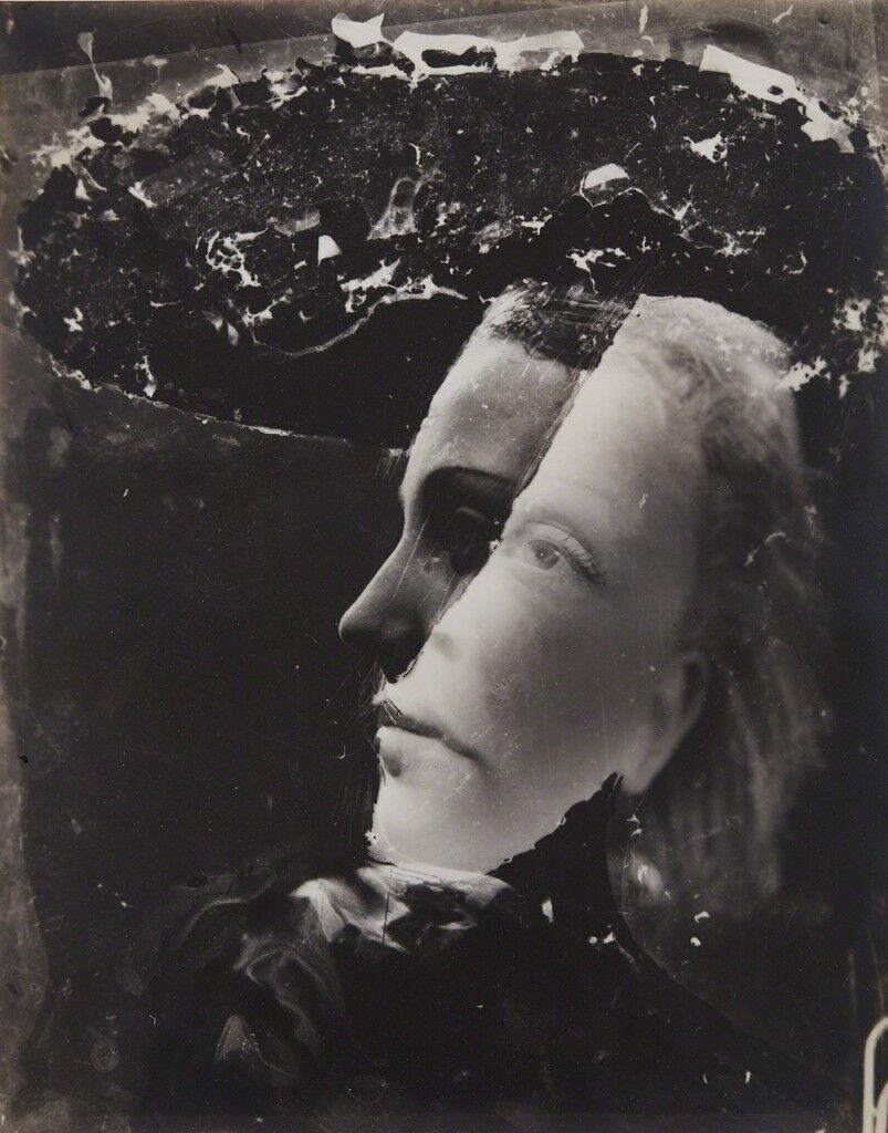 Untitled (double-exposed portrait)