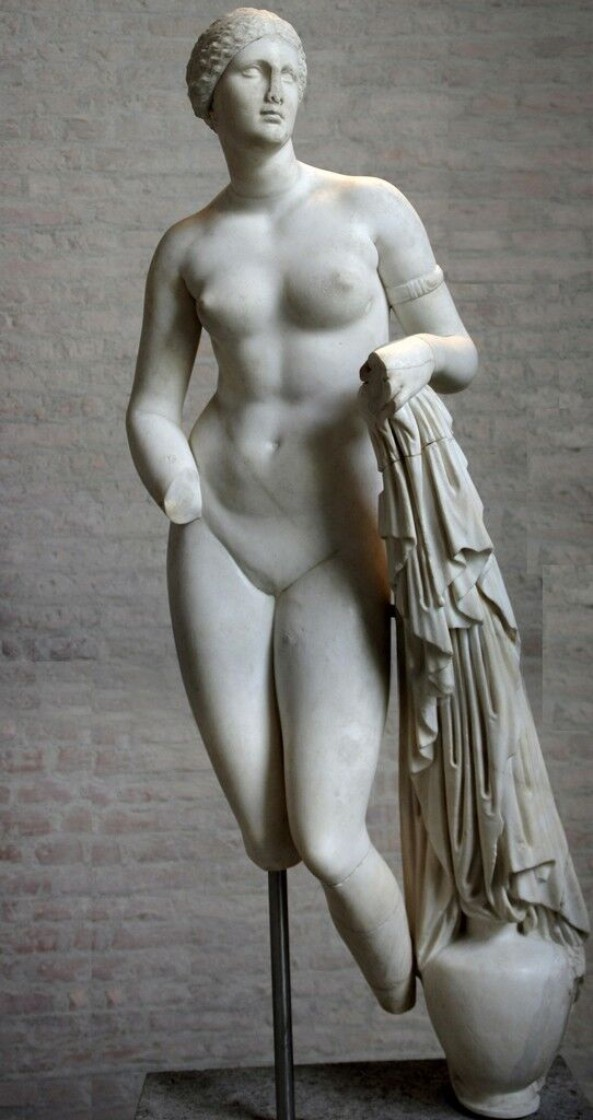 Aphrodite of Knidos, Greco-Roman variant on the original marble of ca. 350 B.C.