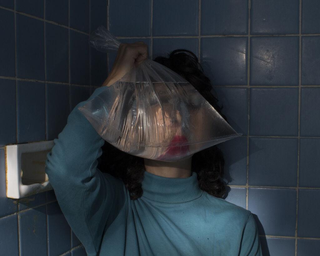 Bag, (self-portrait)