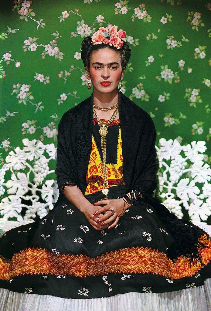 Frida on White Bench, New York