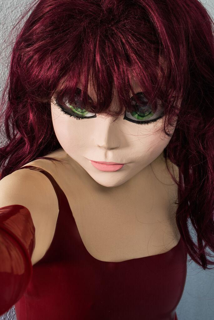 Redhead/Red Dress/Selfie