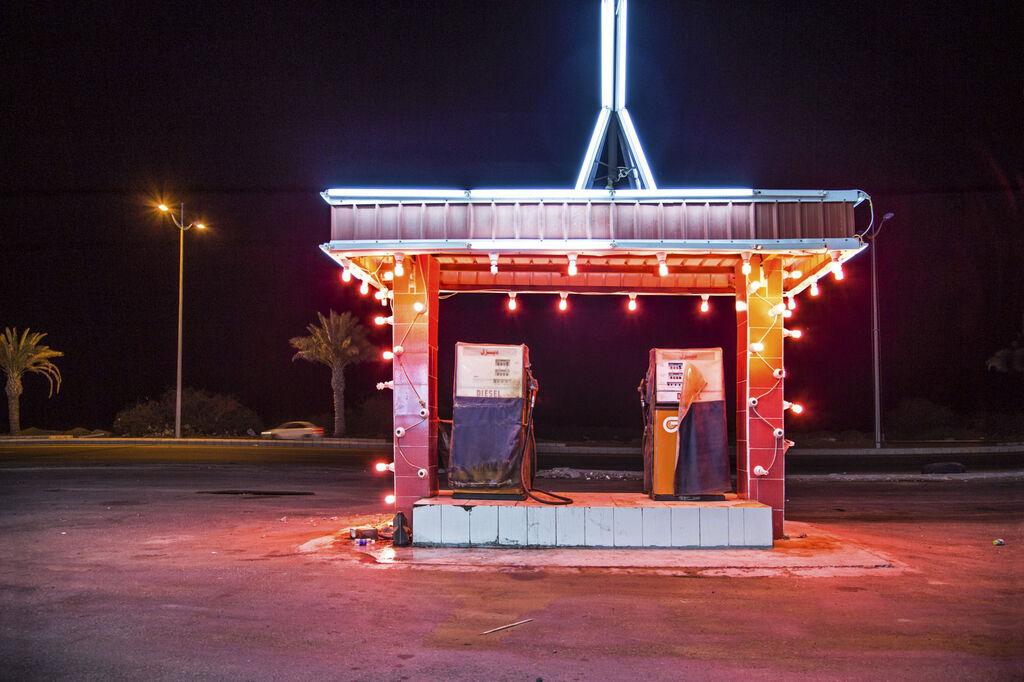 Gas Station Leadlight