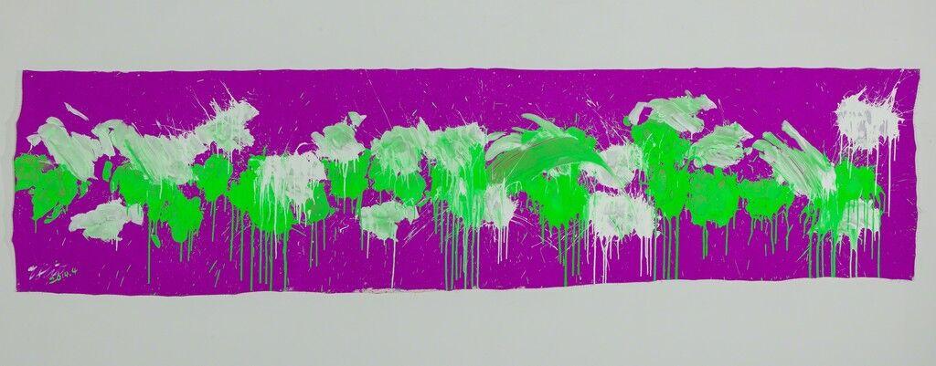 Green & White on Purple – April 2014