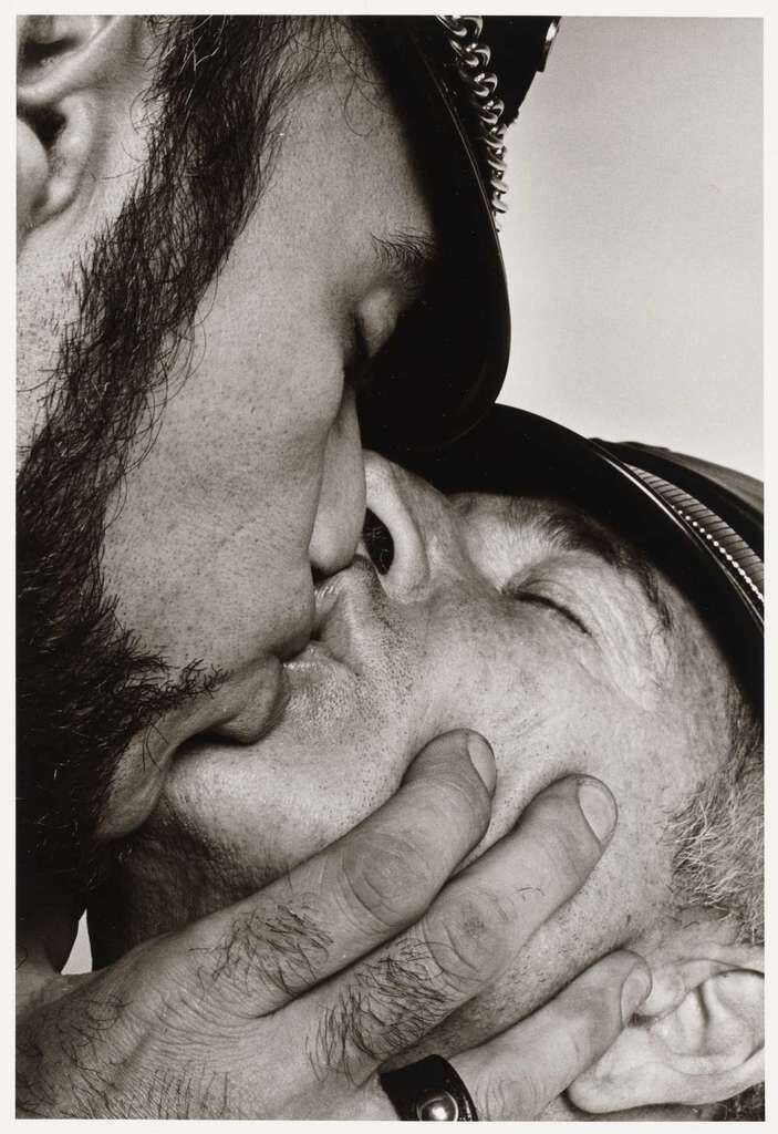 Jay and Fernando [Two Men in Leather Kissing]