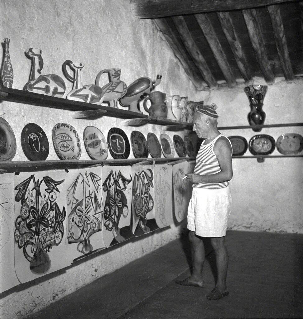 Picasso in the Madoura studio, Vallauris