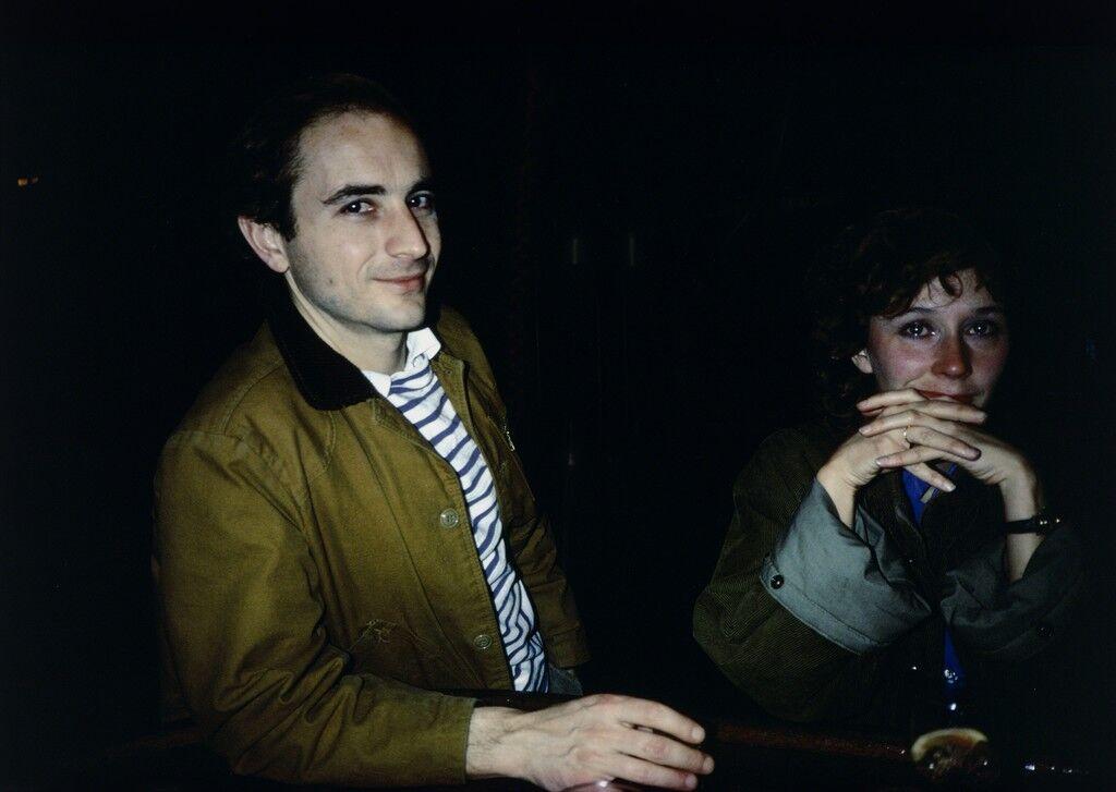 David and Butch Crying at Tin Pan Alley, New York City