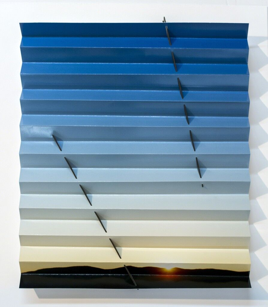 Nevada Sunrise Sundial (Two Lines Blue)