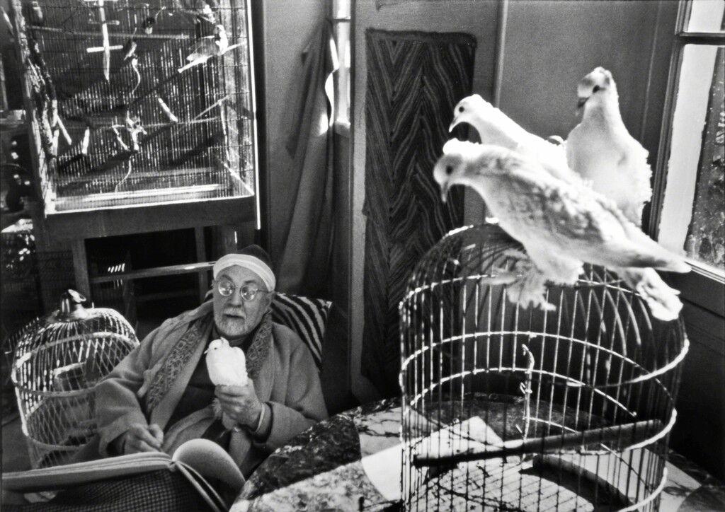 HENRI MATISSE AT HIS HOME, 'LE REVE', VENCE, FRANCE, 1944