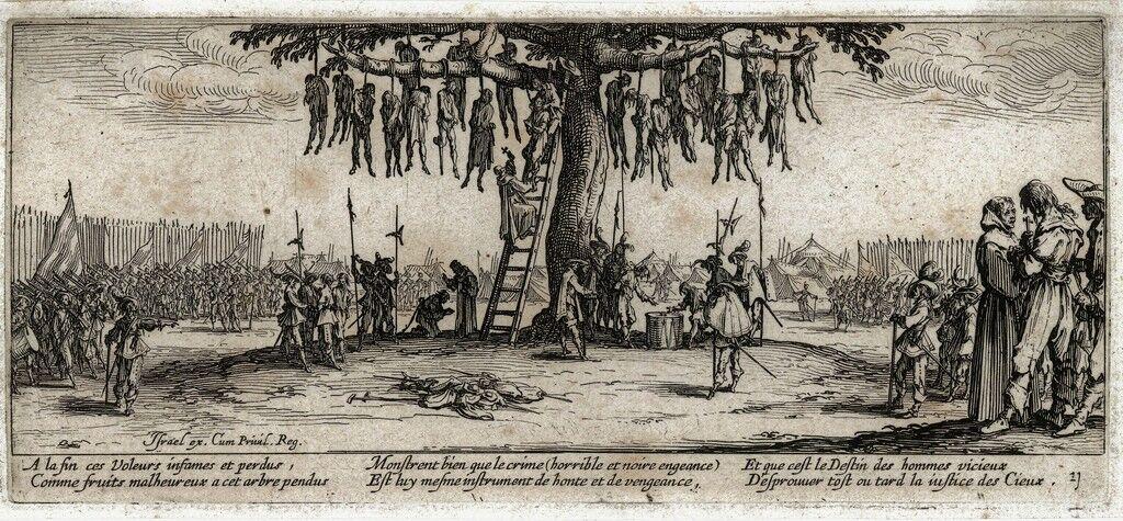 The hanged (No.11) from the series Les Miseres et les Malheurs de la Guerre (The Miseries of War)