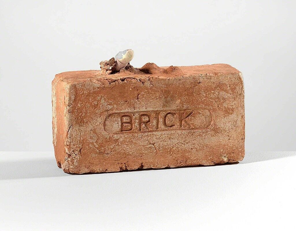 Untitled (Brick with Finger Protruding, Puncture and Lumps)