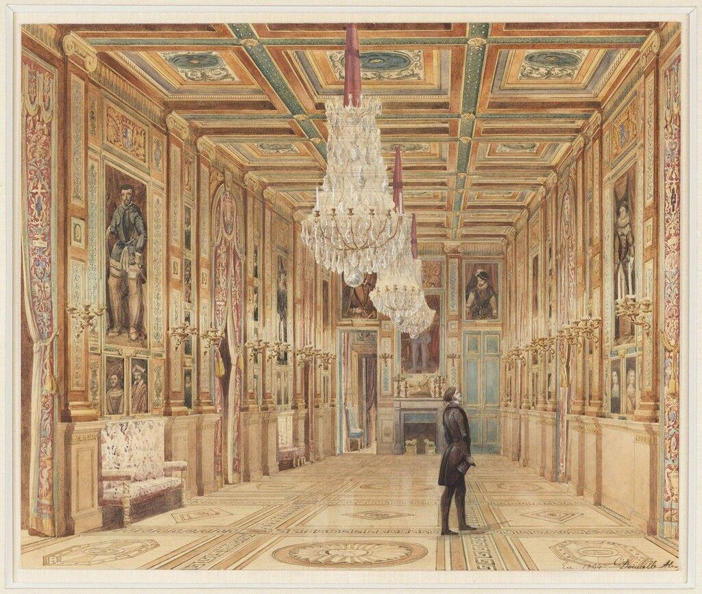 View of the Picture Gallery at the Château d'Eu (Vue de la Galerie au Château d'Eu)