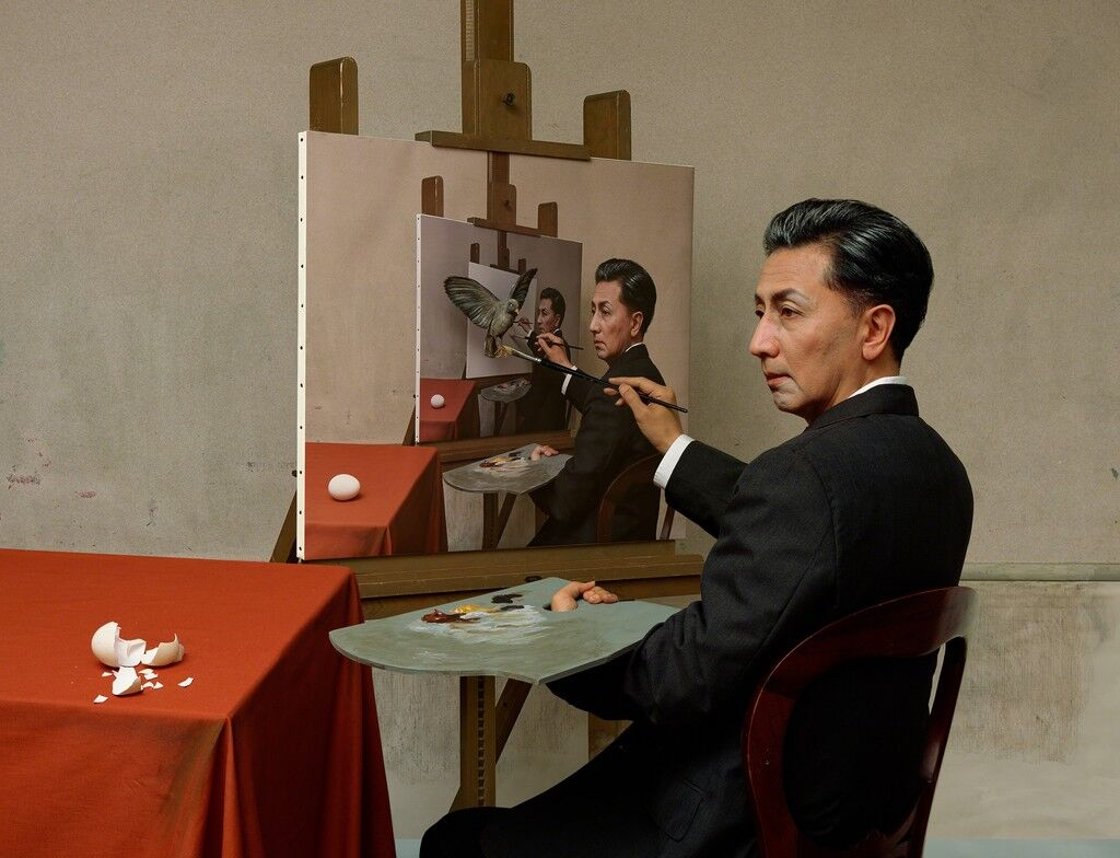Self-Portraits through Art History (Magritte / Triple Personality)