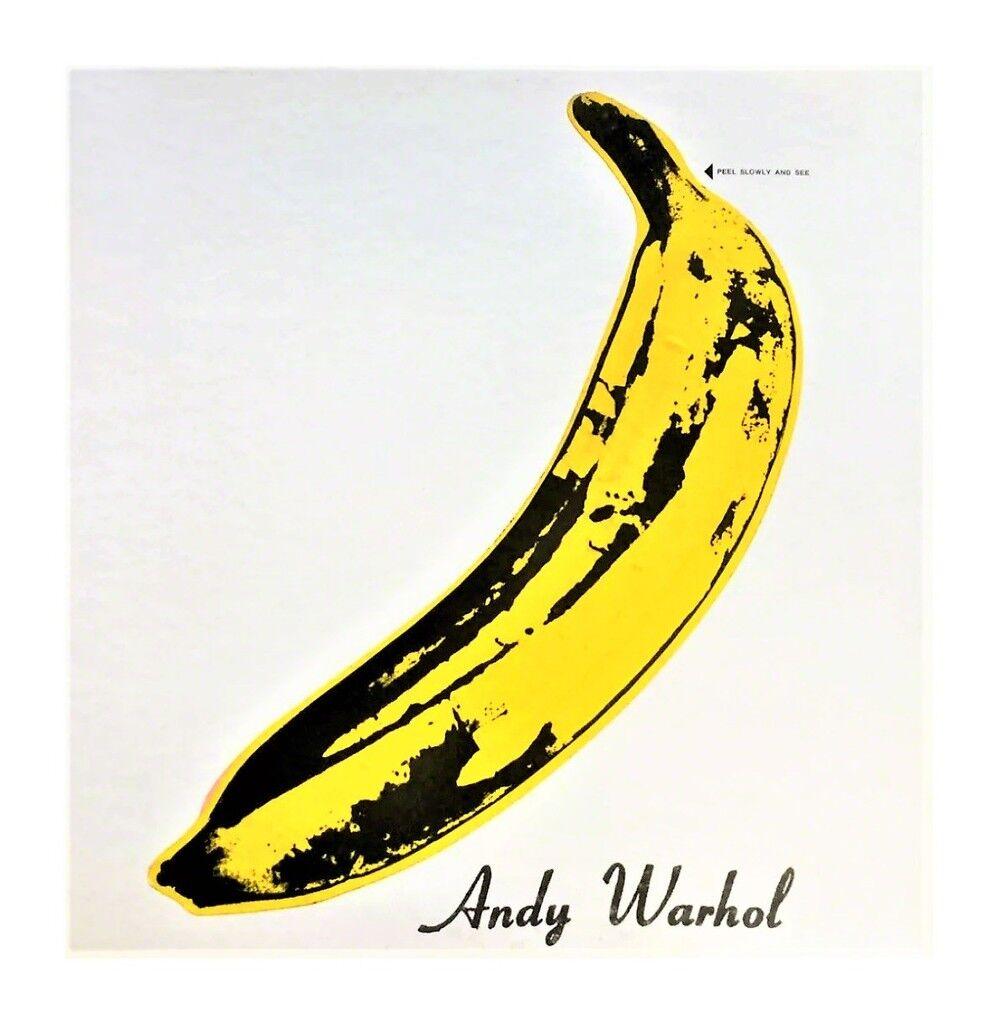 "RARE NEAR MINT, ""Andy Warhol"", Velvet Underground & Nico, UN-PEELED Banana Sticker Cover, Album LP, RARE NEAR MINT CONDITION"