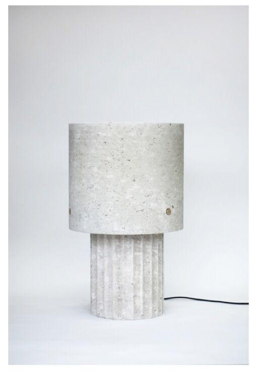 Medium Portland Limestone Lamp