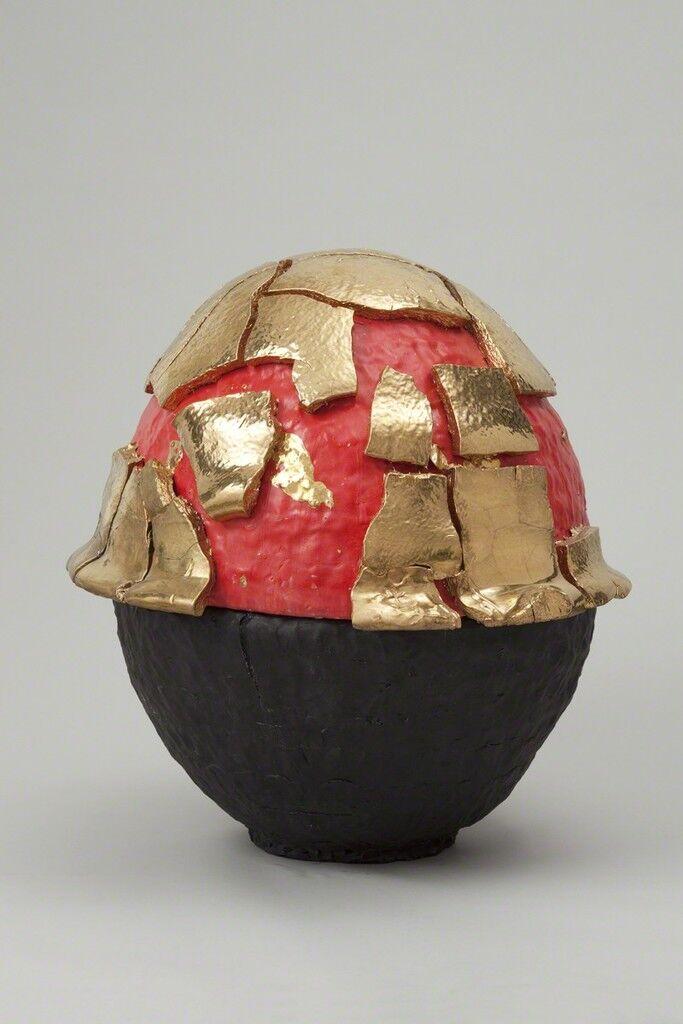 Red Black-Slipped Gold Kairagi Shino Egg