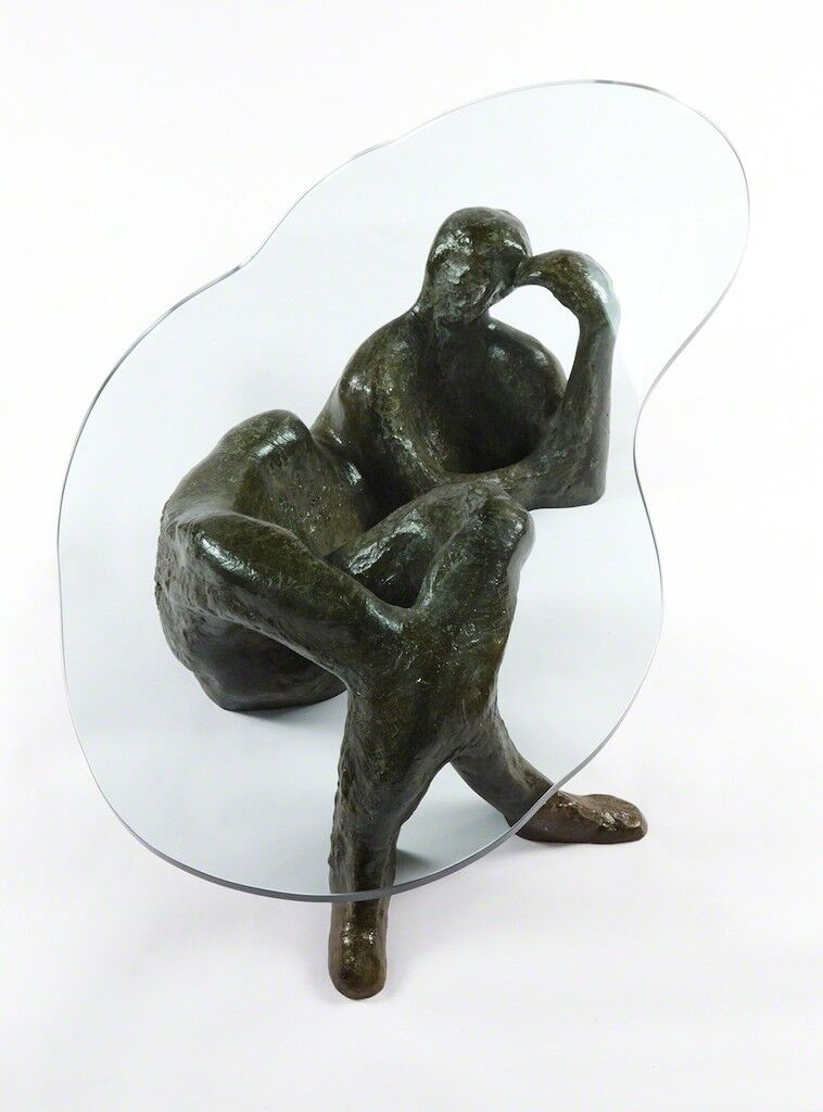"""""""Reclining Nude #1"""" Rare Cocktail Table"""