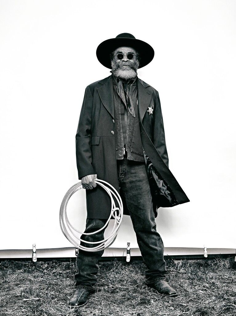 """Ellis """"Mountain Man"""" Harris from """"The Federation of Black Cowboys"""" series for The Village Voice"""