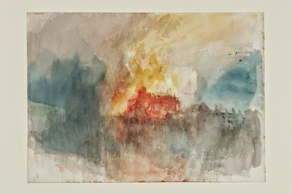 Fire at the Tower of London Sketchbook [Finberg CCLXXXIII], A Fire at the Tower of London