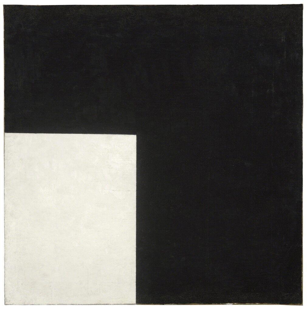 Black and White. Suprematist Composition