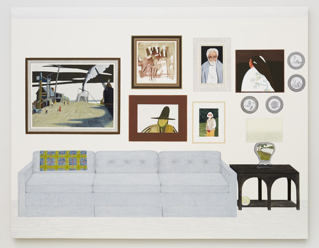 Living Room (six paintings, four plates)