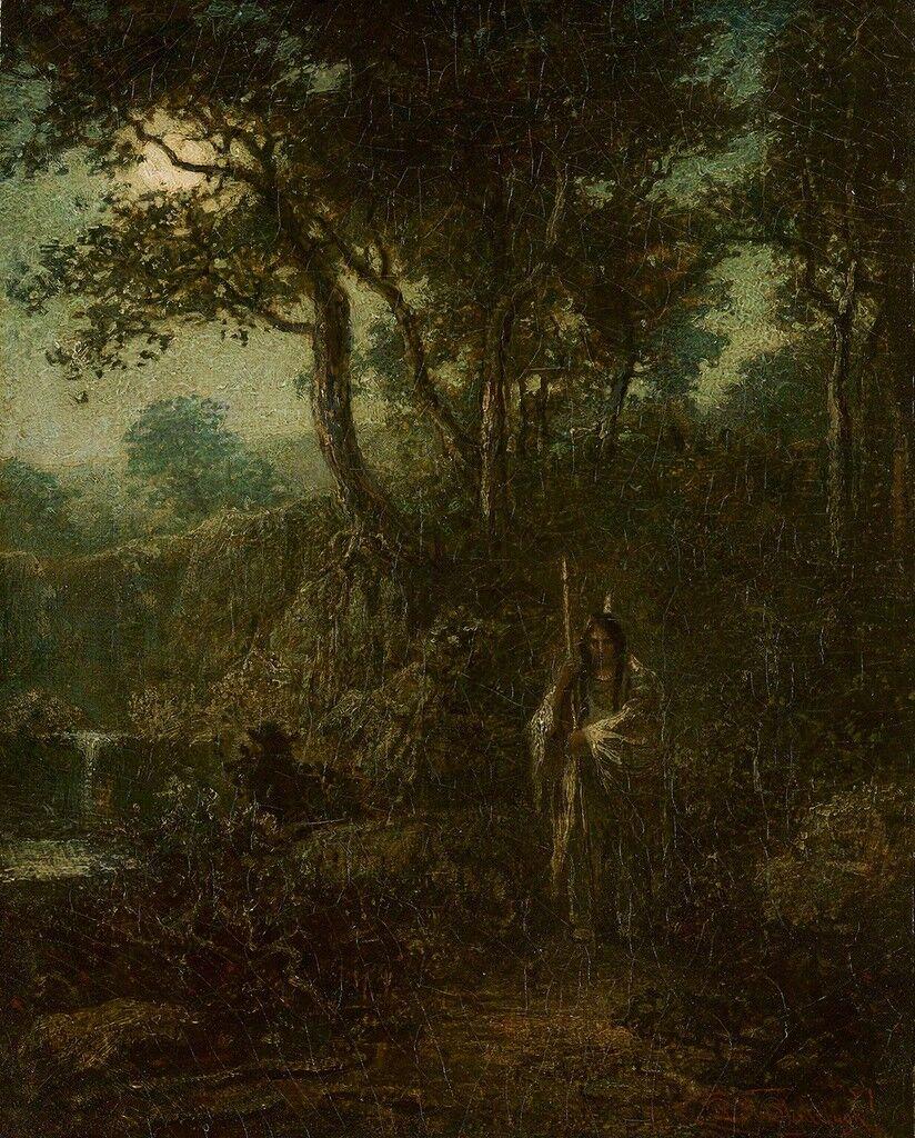 Indian Warrior at Moonlight