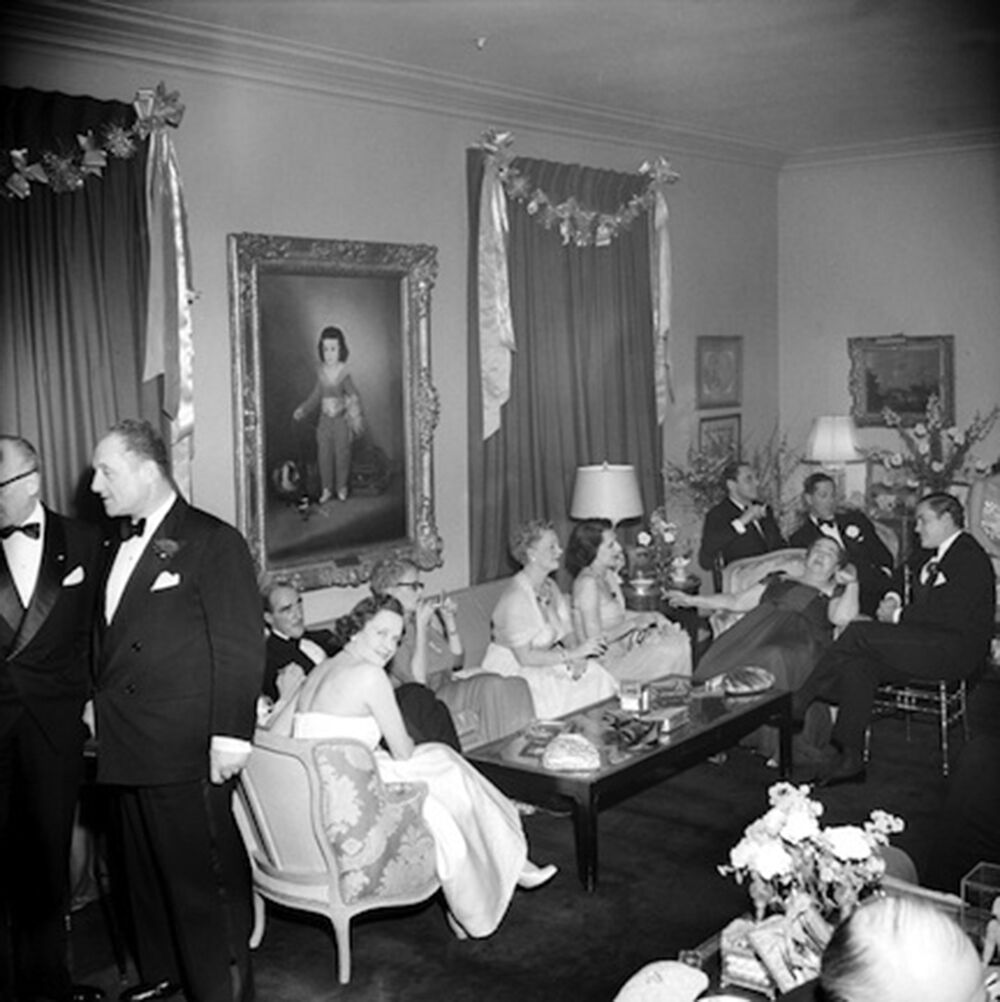Kitty Miller's New Year's Eve Party: Mrs. William Randolph Hearst, Elsa Maxwell, and friends