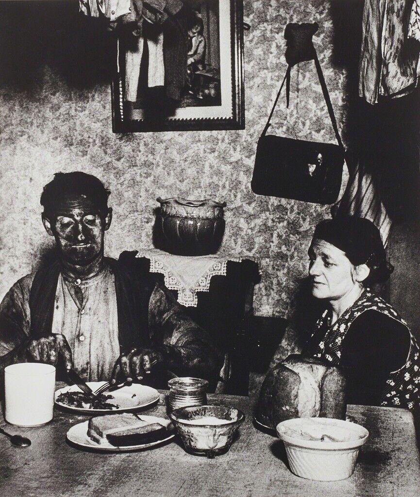 Minero de Northumbria en su cena